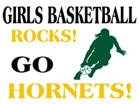 Basketball 01- Girls Team Yard Sign