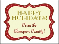 Christmas Holiday Family Yard Sign