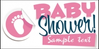 Baby Banner 07- Girl Shower Banner Template