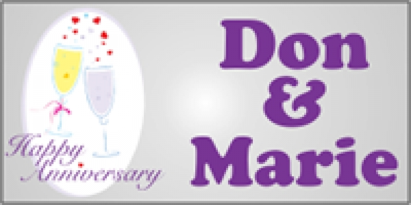 Anniversary Banner - Don & Marie
