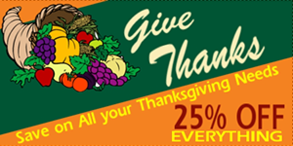 Thanksgiving 03 Banner Layout Cornucopia