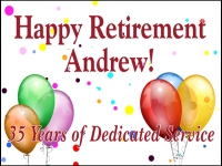 Retirement 04- 35 Years Yard Sign Template