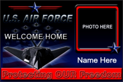 Military|4'x6'-01- USAF Welcome Home Banner