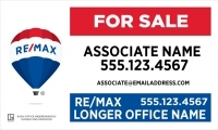 REMAX® Real Estate Horizontal 18h X 30w Office Prominent Panel w/Longer Office Name | Frame Included