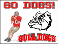 Football 02-  Bull Dogs Yard Sign
