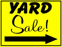 Garage/Yard Sale 9 Yard Sign Template