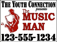Music/Entertainment 09- Youth Connection Yard Sign Template
