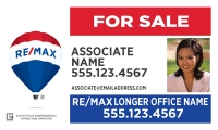 REMAX® Real Estate Horizontal 18h X 30w Standard Main Panel w/Photo | Frame Included