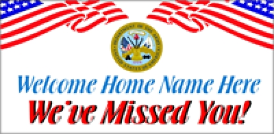 Military-02 US Army Welcome Home Banner