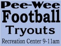 Football 03- PeeWee Tryouts Yard Sign