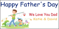Father's Day Banner Layout 04