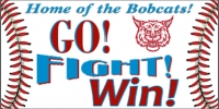 Baseball-03 Go, Fight, Win! Banner Template