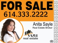 Anita Sayle Custom Real Estate Sign Template
