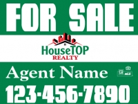 HouseTop Realty Custom Real Estate Sign