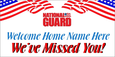 Military-05 National Guard Welcome Home Banner