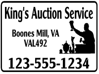 Financial 05-Kings Auction Service Yard Sign Template