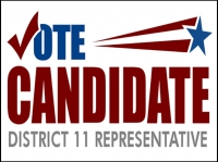 Political 01- Vote Candidate Yard Sign Template