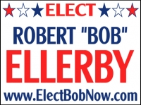 Political 03- Elect Bob Now Yard Sign Template