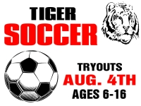 Soccer 03- Tigers Tryouts Yard Sign