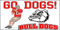 Football-03 Go Bulldogs! Banner Template