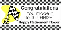 Retirement 02- Finish Line Custom Banner