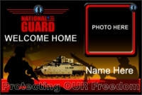 Military|4'x6'-05 US Nat'l Guard Welcome Home Banner