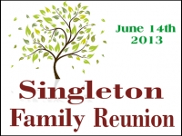 Reunion 02- Singleton Yard Sign Design Template