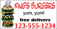 Catering/Food 06 Burger Delivery Banner Template