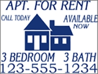 Apt. For Rent W/Room Details Panel Template