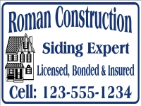 Tradesman 03-Roman Construction Yard Sign