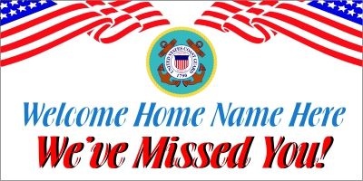 Military-06 US Coast Guard Welcome Home Banner