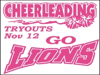 Cheerleading 02- Tryouts Yard Sign