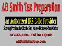 Financial 01-AB Smith Tax Preparation Yard Sign