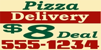 Catering/Food 11 Pizza Delivery Banner Template