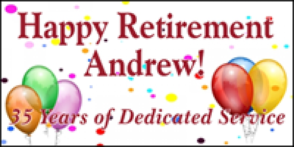 Balloons / Confetti Retirement Message Banner