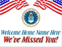 Military 01- Welcome Home Air Force Yard Sign