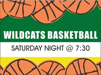 Basketball 03- Wildcats Yard Sign