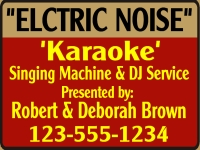 Music/Entertainment 08- Electric Noise Yard Sign Template