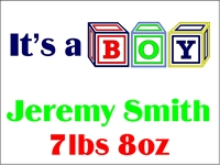 New Baby 01- Its a Boy Yard Sign