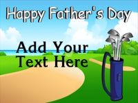 Fathers Day 2 Yard Sign Template