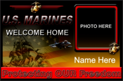 Military|4'x6'-03 US Marines Welcome Home Banner