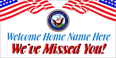 Military-04 US Navy Welcome Home Banner