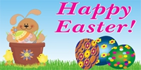 Easter-03 Banner Bunny Template