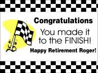 Retirement 02- The Finish Line Yard Sign Template