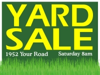 Garage/Yard Sale 5 Yard Sign template