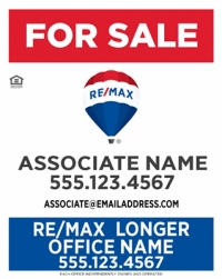 REMAX® Vertical Office Prominent Panel W/Longer Office Name