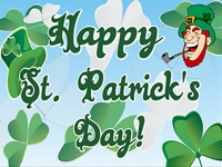 St. Patricks Day 2 Yard Sign Template