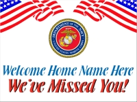 Military 03- Welcome Home Marines Yard Sign