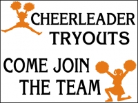 Cheerleading 04- Tryouts Yard Sign