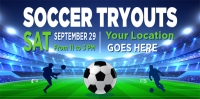 Soccer-06 Tryouts Banner Template